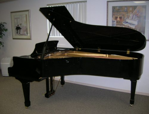 1988 Samick 225 ebony polish 7'4″ semi-concert grand piano