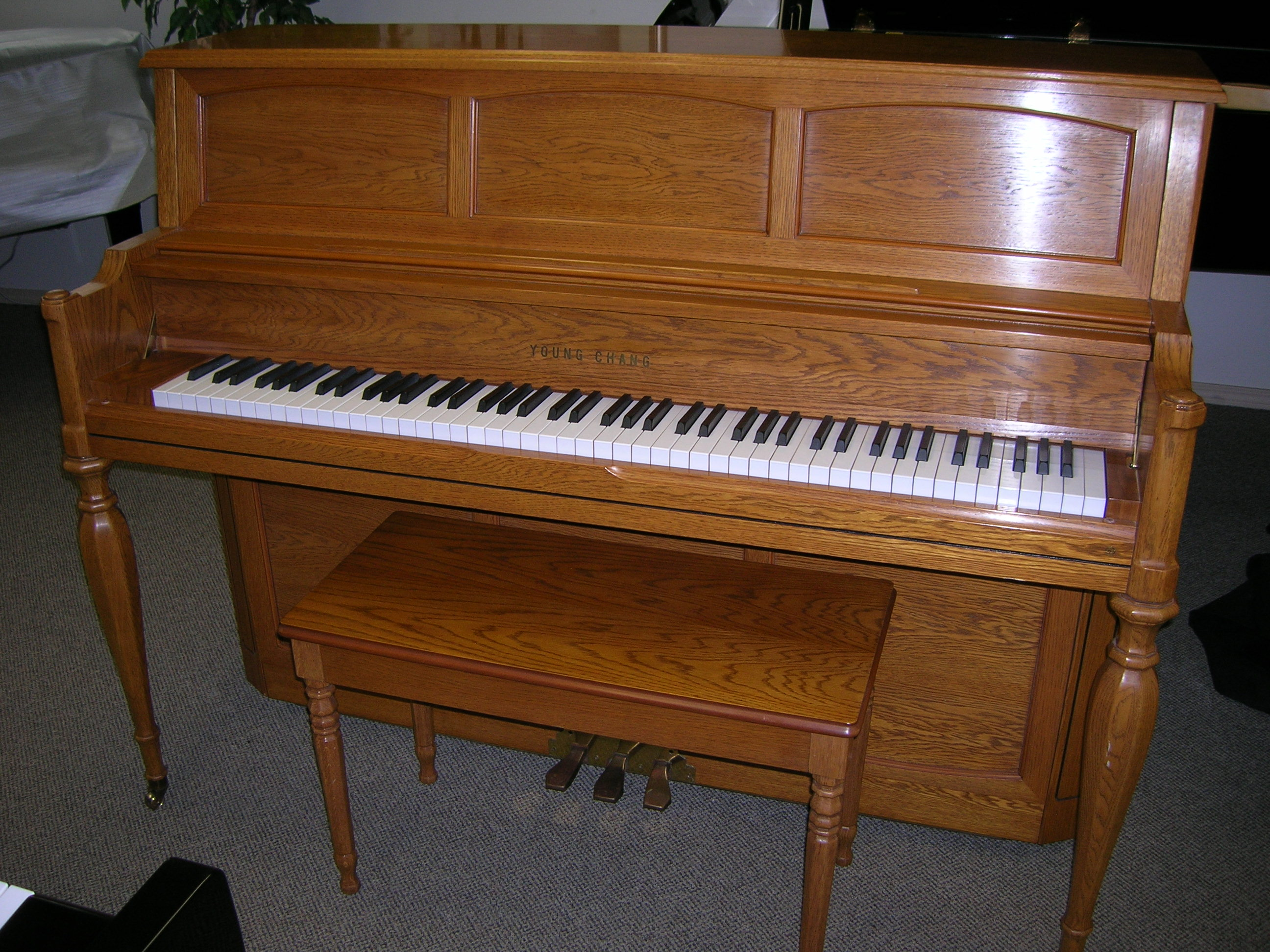 1988 young chang 46 decorator studio piano all about pianos. Black Bedroom Furniture Sets. Home Design Ideas