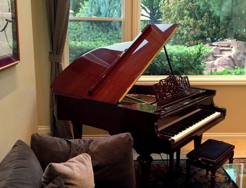 """2005 Vogel (by Schimmel) V-177R 5'10"""" mahogany grand piano"""