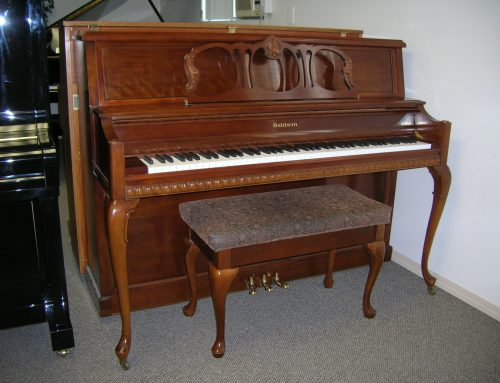 1994 Baldwin Queen Anne 45″ console piano