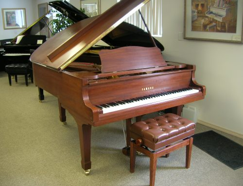 1989 Yamaha C-3 6'1″ walnut grand piano – $16,950