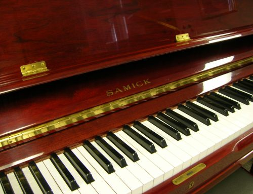 1989 Samick 51″ upright piano