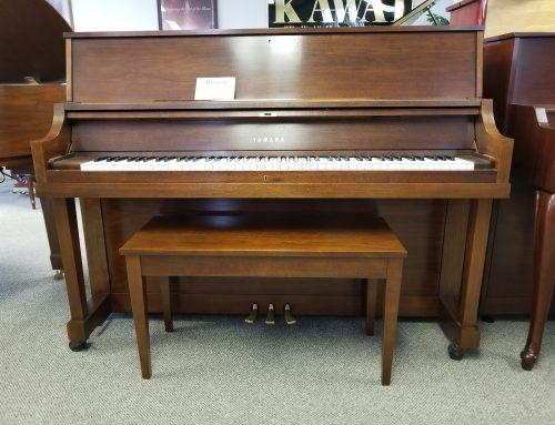 2007 Yamaha P22 walnut studio piano – $4895