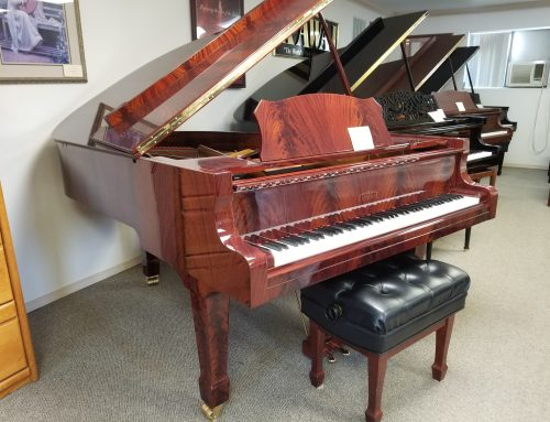 2006 Estonia L-190 pyramid mahogany 6'3″ grand piano
