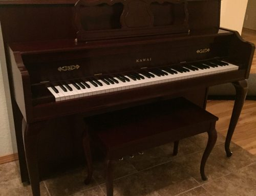 2001 Kawai model 606QACM 44.5″ mahogany console piano