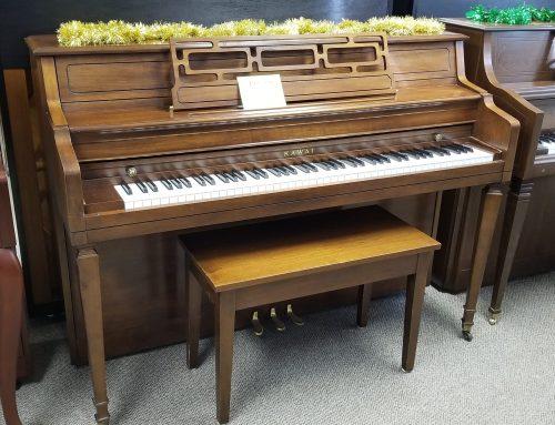 1991 Kawai 42″ console, walnut – $1795