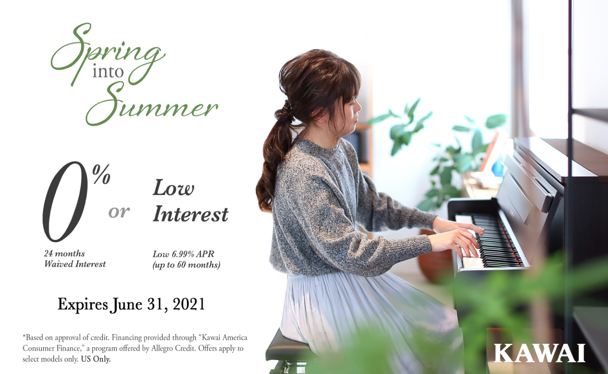 Spring Into Summer Savings by Kawai - All About Pianos Belgrade MT