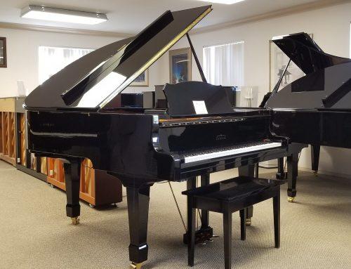 2003 Estonia L-168 ebony polish 5'6″ baby grand piano – $13,795