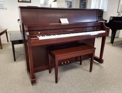 2009 Kawai 44″ model 506 mahogany console piano – $2995