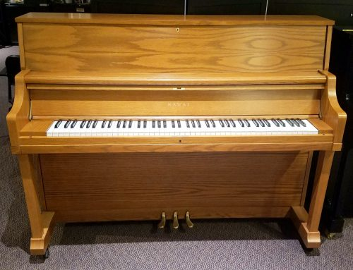 1996 Kawai 46″ model UST-8 oak studio piano – $3495